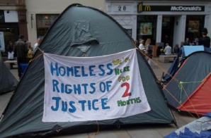 Ben Supporting the Homeless at the Manchester Homelessness Camp