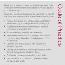 Resolution Code of Practice