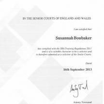 Susannah SRA Training Certification