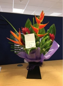 Rachel's flowers from a happy client